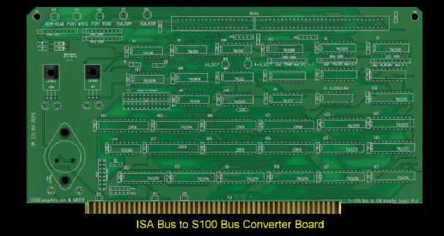 ISA to S100 Converter Board