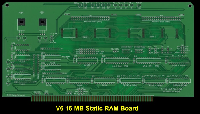 V6 16MB Static RAM Board