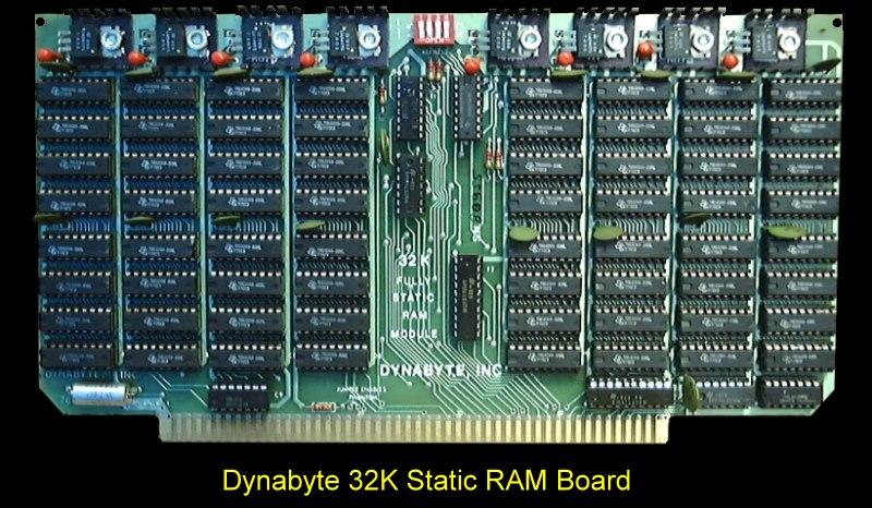 S100 Computers Dynabyte 32k Ram