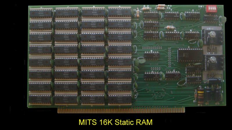 S100 Computers Mits 16k Static Ram