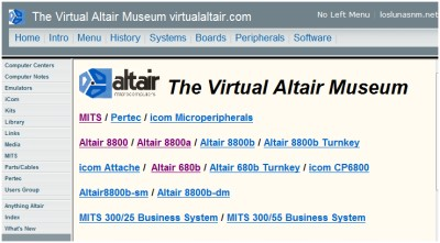 Virtual Altair Web Site