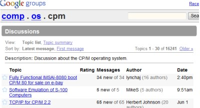 Comp-OS-CPM Web Site