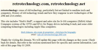 Reterotechnology Web Site
